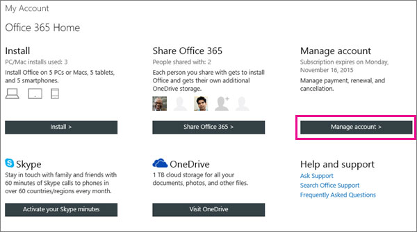 Improve your payment way of Microsoft Office 365 for home